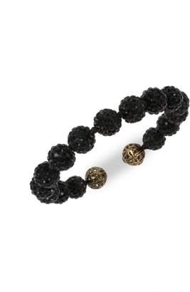 Miriam Haskell Caviar Acrylic Beaded Coil Bracelet