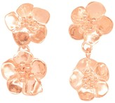 Lily Flo Jewellery Cherry Blossom Double Drop Stud Earrings In Solid Rose Gold