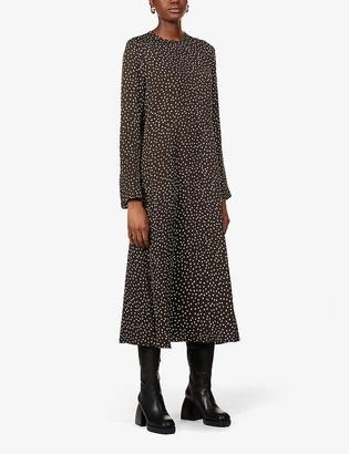 Samsoe & Samsoe Rami spot-print woven midi dress