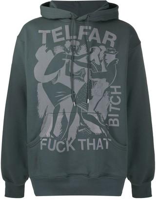 Telfar Logo Print Hoodie