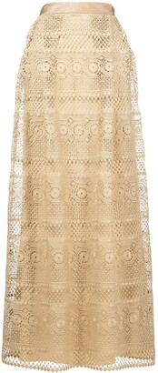 Alberta Ferretti Long Crochet Skirt