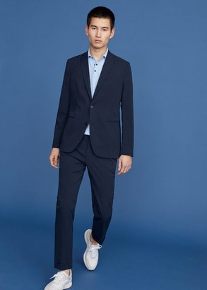 MANGO Textured slim fit blazer
