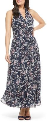 Gal Meets Glam Floral Halter Neck Maxi Dress (Regular & Plus Size)