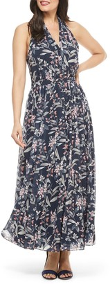 Gal Meets Glam Floral Halter Neck Maxi Dress