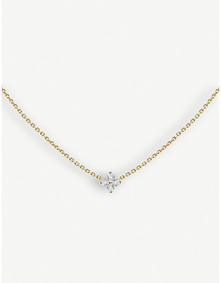 Selfridges Redline Shiny 18ct yellow-gold and diamond necklace