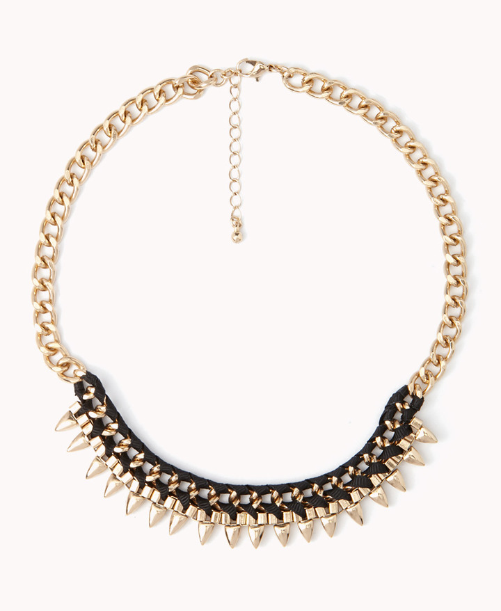 Forever 21 Spiked Chain Necklace