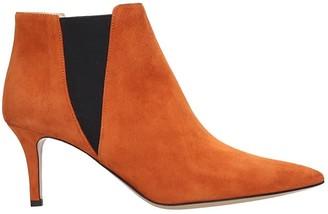 Fabio Rusconi High Heels Ankle Boots In Orange Suede