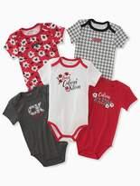 Calvin Klein Baby Girls 5-Pack Houndstooth Logo Onesies