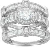 Tiara 3 1/2 CT TW Cubic Zirconia Sterling Silver 3-Piece Bridal Set