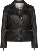 Cabrini Plus Size Perforated leather jacket