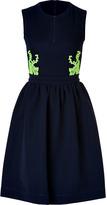 Preen Audra Dress in Navy/Citrus