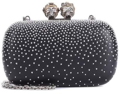 Alexander McQueen Queen and King studded box clutch