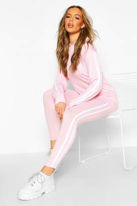boohoo Side Stripe Hoodie and Leggings Lounge Set
