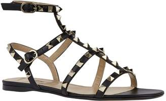 Valentino Garavani Leather Rockstud Gladiator Sandals
