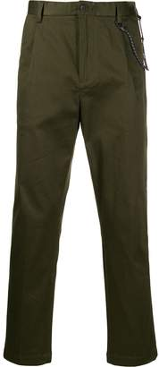 Closed straight leg trousers