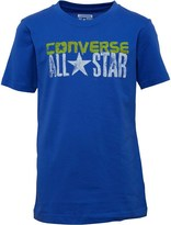 Converse Junior Boys Gritty Woodmark T-Shirt Oxygen Blue