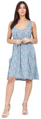 M&Co Izabel floral hanky hem dress
