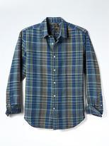 Banana Republic Grant-Fit Madras Linen Cotton Shirt