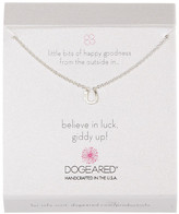 Dogeared Sterling Silver Believe in Luck Horseshoe Necklace