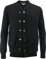 Comme des Garcons double placket knitted cardigan