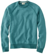 L.L. Bean L.L.Bean Cotton/Coolmax Performance Crewneck Sweater, Slightly Fitted Long-Sleeve