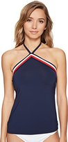 Tommy Hilfiger Women's Signature Stripe Elastic Band Tankini Top