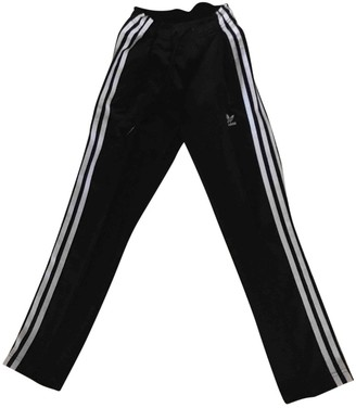 adidas Black Polyester Trousers