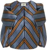 Fendi cold-shoulder striped jacket