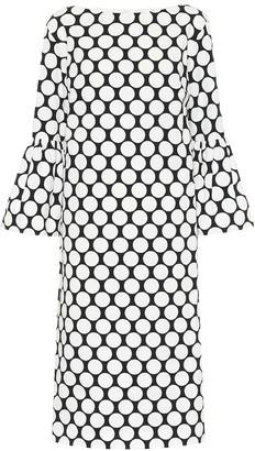 Dries Van Noten Dotted cotton midi dress