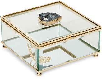 American Atelier Agate Stone Decorative Glass Box