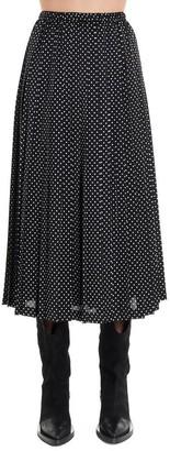 Junya Watanabe Pleated Polka Dot Skirt