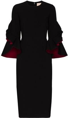 Roksanda Ardemia ruffle sleeve midi dress