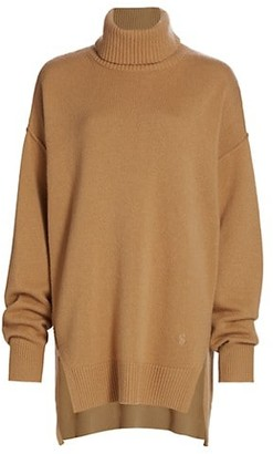 St. John Asymmetric Cashmere Turtleneck Sweater