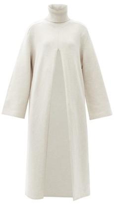 Joseph Viviane Slit-front Wool Sweater Dress - Light Grey
