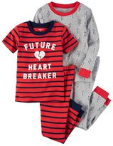 Carter's Boys 4-8 4-Piece Heart Breaker Pajama Set