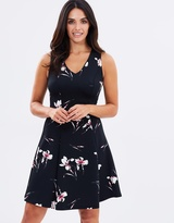 Wallis Oriental Lily Fit-and-Flare Dress