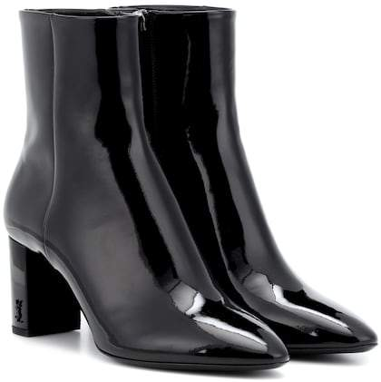 Saint Laurent Lou 70 patent leather ankle boots