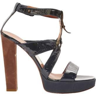 Lanvin Navy Patent leather Sandals