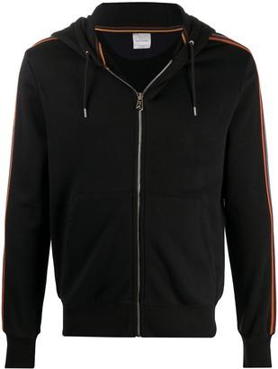 Paul Smith Striped-Sleeves Zip-Up Hoodie