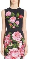 Dolce & Gabbana Women's Rose Print Cady Top