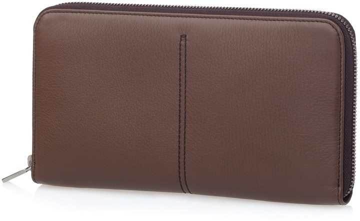 Tod's Large Leather Zip Around Wallet