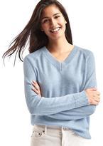 Wool- cashmere blend V-neck sweater