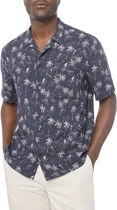 Frame Regular Fit Tropical Short Sleeve Button-Up Camp Shirt