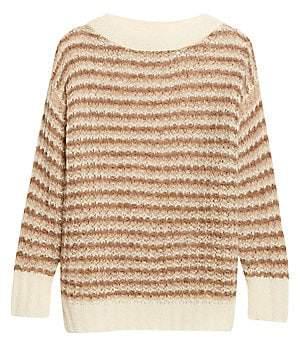 Theory Women's Stripe Baby Alpaca-Blend Sweater