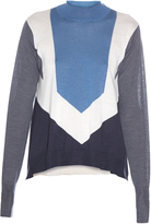 Stella McCartney Funnel-neck block-colour knitted sweater