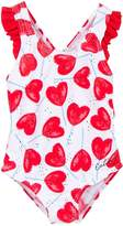 Catimini Girls One-Piece Heart Printed Swimsuit
