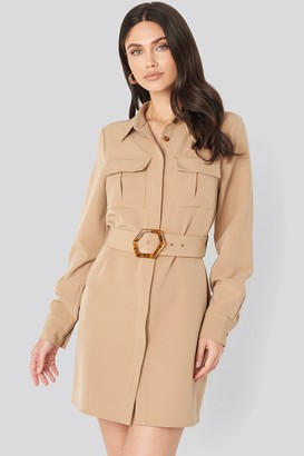 NA-KD Belted Straight Fit Shirt Dress