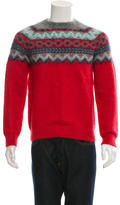 Carven Mohair Patterned Knit Sweater