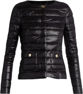 Herno Collarless quilted down jacket