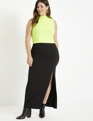 ELOQUII Maxi Skirt with Slit